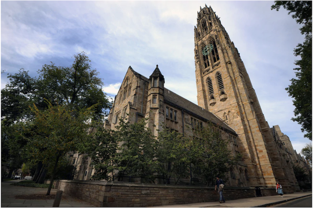 Harkness Tower seen on the campus of Yale University in New Haven, Conn., in October 2013. (Peter Foley/EPA-EFE/Shutterstock)
