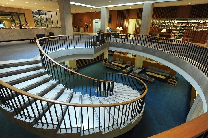 Lehman Library staircase